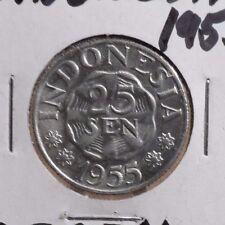 CIRCULATED 1955 25 SEN INDONESIAN   COIN (62716)