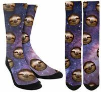 Sloth in Space Socks -Funny Sloth Socks -Mens Sloth Socks-Womens Sloth Socks B63