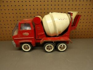 Red Tonka Concrete Cement Mixer Truck 60's Gas Turbine for Parts or Repair