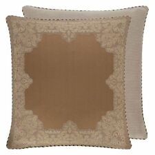 Croscill Montecarlo New $50 Reversible Embroidered Euro Pillow Sham Gold Brown