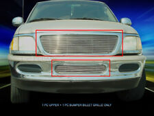 Polished Billet Grille Front Grill Combo Fits 1997-1998 Ford F-150/Expedition