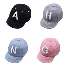 Baby Boy Hat Letter Kids Baseball Cap Cotton Adjustable Sun Hats Girls Cap