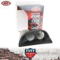 SAAS VY VZ Holden Commodore Twin Dual 52mm Gauge Holder Pod Grey Clip In Design