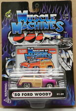 PINK 1950 50 WOODY WAGON FORD BLOWER DRAG RACING SERIES 01 59 MUSCLE MACHINES