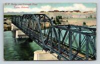 YUMA AZ OLD VIEW OF THE S.P. BRIDGE OVER THE COLORADO RIVER POSTCARD A-5