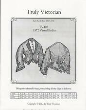 Schnittmuster Truly Victorian TV 403: 1872 Vested Bodice