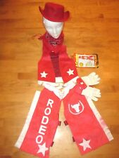 JR. COWGIRL JESSIE JESSE TOY STORY COSTUME WITH HAT SIZE XXS 2/3
