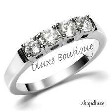 1.25 Ct Stainless Steel CZ Anniversary Wedding Bridal Ring Band Women's Sz 5-10