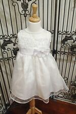 G1285 KID COLLECTION 1201 WHITE SZ 2 TODDLE FLOWER GIRL DRESS GOWN