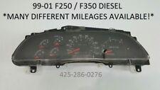 2001 Ford F250 F350 DIESEL speedometer instrument gauge cluster 01 PICK MILEAGE!