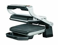 T-FAL GC702 OPTIGRILL STAINLESS STEEL INDOOR ELECTRIC GRILL REMOVABLE PLATES RB