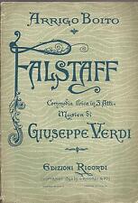 COMMEDIA LIRICA_ARRIGO BOITO :FALSTAFF_MUSICA DI GIUSEPPE VERDI_EDIZIONI RICORDI