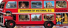SOUVENIR OF VICTORIA BRITISH COLUMBIA CANADA~TOUR BUS POSTCARD