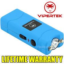 VIPERTEK VTS-881 7 BV Rechargeable Micro Mini Stun Gun LED Flashlight - Blue
