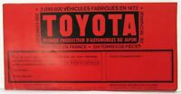 1972 Toyota Full Line Cars Sales Brochure - French Text