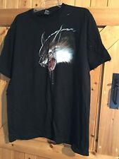"Black Werewolf T Shirt Top Gruesome Werewolf Size XL Chest 44"" Werewolf Motif"