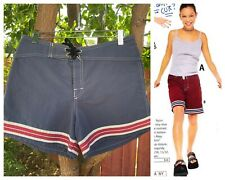 Vintage 90s Roxy Board Shorts 28 Blue Stripe dELiA*s Surf Skate Y2K Coconut Girl