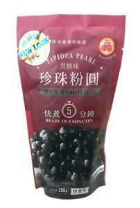 1 Pack of Wufuyuan Black Tapioca Pearl 250g for Bubble Tea Drink Boba Milk tea