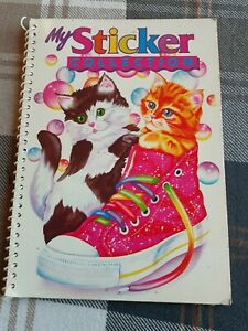 """Lisa Frank """"My Sticker Collection"""" Book VINTAGE 1990s Cats Kittens"""