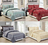Fancy Quilted Bedspread 3 Piece Set Jacquard Bed Throw Comforter Double King New