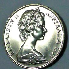 AUSTRALIAN 1981 20 CENT COIN FROM MINT ROLL BRILLIANT UNCIRCULATED.