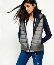 Superdry Mujer Chaleco Core Luxe Gris