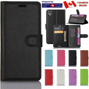 For Sony Xperia XA1 XZ1 XZ premium XA1 Wallet Case Leather Cardholder Flip Cover