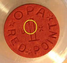 OPA VERY RARE CUD DIE CHIP BREAK ERROR  RED RATION TOKEN WWII BU NEW   OPAC