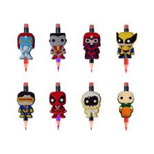 8pcs/set X-Men Pencil Toppers DIY School Stationery Boys Kids Party Xmas Gifts
