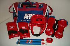 ATA Black Belt Academy Taekwondo Sparring Gear w/ Carrying Bag