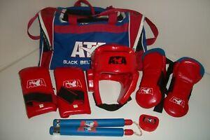 ATA Black Belt Academy Taekwondo Sparring Gear w/ Carrying Bag Kids/Youth