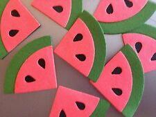EIGHT DIE CUT JUICY WATERMELON WEDGES. A PERFECT SUMMER EMBELLISHMENT.