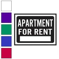 Apartment For Rent Business Decal Sticker Choose Color + Size #4003