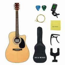 """BIG SALE ACOUSTIC GUITAR 41""""INCH FULL SIZE SPRUCE TOP STARTER KITS FOR STUDENTS"""