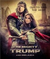Donald Trump Melania Trump Thor Sticker DC Comics Pro TRUMP 2020 MAGA