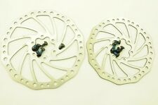 PAIR DISC BRAKE STAINLESS STEEL ROTORS, 160mm & 140mm, MAY SUIT FRONT AND REAR