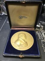 Dieges And Clust Antique Box With Undated Quency Adams Medal
