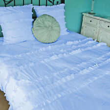 Decorative Mini Ruffle Duvet Cover Set 1000TC Egyptian Cotton All Sizes & Colors