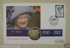 St.Helena Coin and Stamp First Day Cover 2002, Queen Mother