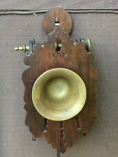Antique Spanish Mortar And Pestle With Wood Holder / Rack / Granada