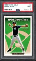 1993 Topps Gold #98 DEREK JETER RC HOF New York Yankees PSA 9 MINT