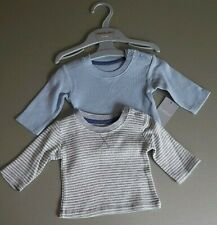 Ex store Tiny Baby size 2 pack boys long sleeve tops New with Tag