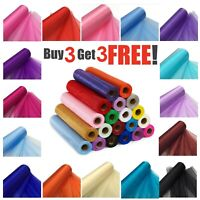 87ft Organza Roll Fabric Wedding Party Decor Chair Bows Table Runner Sash Xmas
