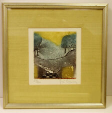 René Carcan (1925-1993) COLOR ETCHING NUMBERED & SIGNED (1 OF 4)