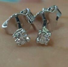 pendientes oro blanco 18 ct con diamantes naturales 0,50 ct F VS1 - punto de luz
