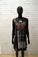 Tubino Vestito Donna DESIGUAL Taglia 38 Abito Nero Grigio Woman Dress Black