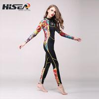 Hisea 3mm Neoprene Wetsuit Women Spear Wet Suit Diving Swimwear Surfing Swimsuit