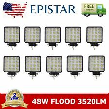 10X 48W Flood LED Off Road Work Light Lamp 12V 24V Boat Truck Jeep US Stock TC