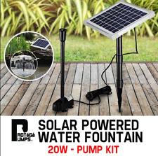 Premium 20W Water Pump Power Panel Kit 700 L/H  Solar Fountain Garden Pond