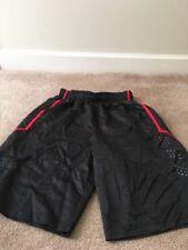 Spalding Men's Athletic Shorts Sz M Black/Red